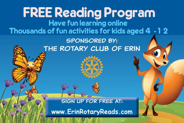 Free Reading Program – Rotary Club of Erin